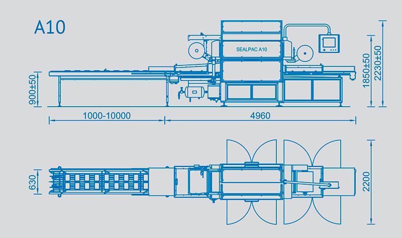 Sealpac A10 - wymiary