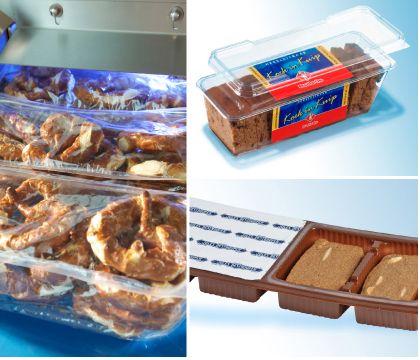 pakowanie ciast i pieczywa na maszynach Sealpac
