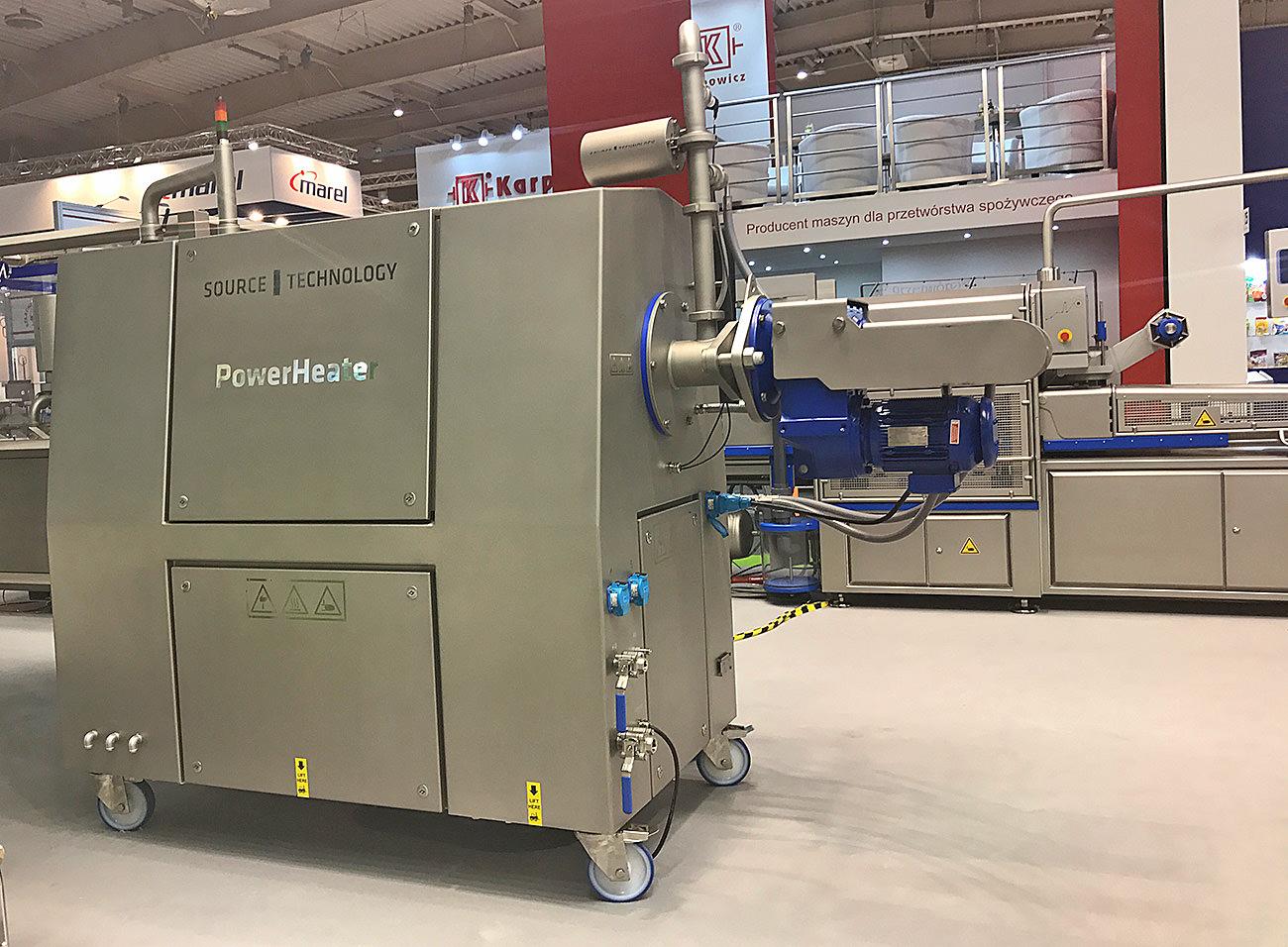 Maszyna do przetwarzania emulsji białkowych POWER HEATER firmy SOURCE TECHNOLOGY