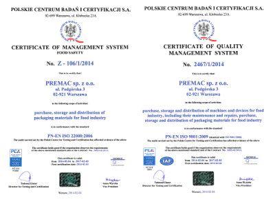 ISO 22000:90001 Premac